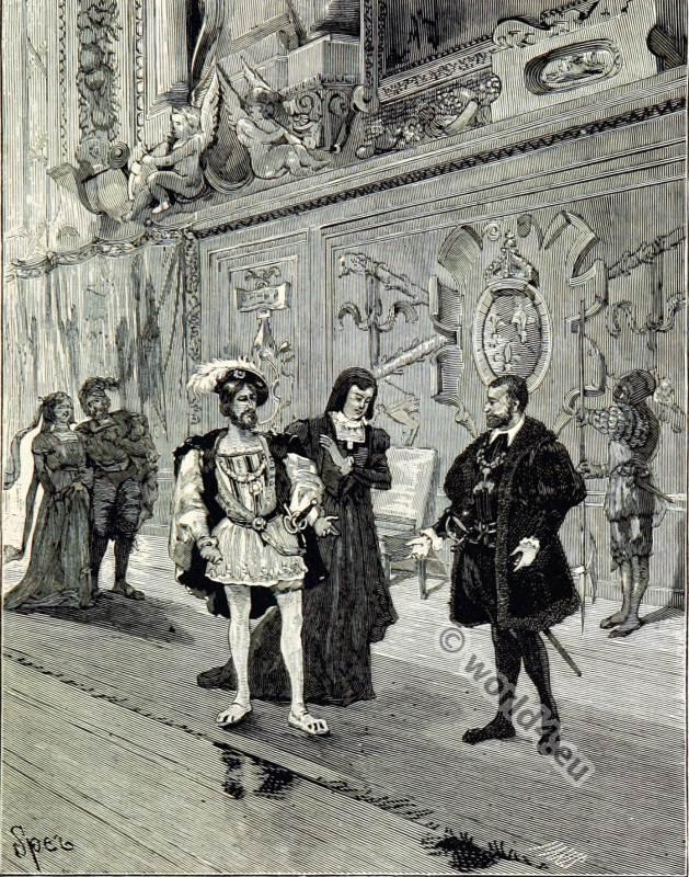 Francis I, Anne Pisseleu, Duchesse d'Etampes, Charles Quint, Renaissance, fashion history