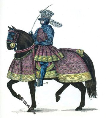 Louis XII, King, France, Middle ages, medieval costume, fashion history