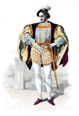 Duc, Marquis Authentic Renaissance clothing. 16th century fashion. court dress.