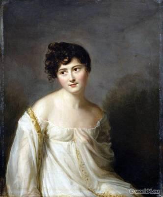 Hair à la titus. Juliette Recamier. Regency fashion.