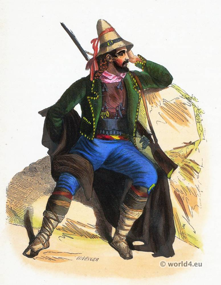 Calabria, folk, costume, Paysan Calabrais, costumi tradizionali