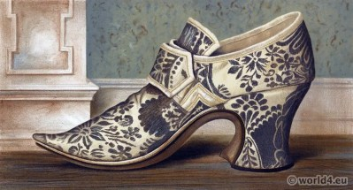 16th century Shoes tudor style. Vintage High Heels. Boho style.