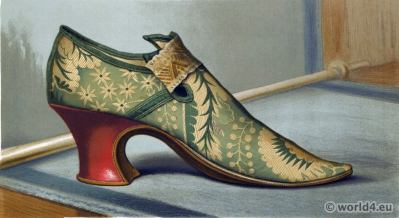 shoes 16th century tudor style. Vintage High Heels. Boho style.