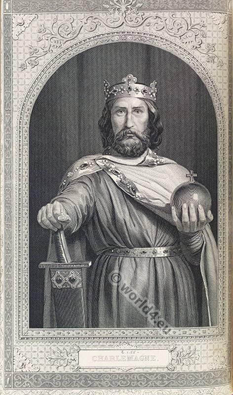 Portrait, Charlemagne, Karolus Magnus, Karl der Große, Medieval, King, Carolingian, Costume