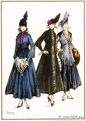 Lace dresses. Le style parisien. Art deco fashion magazine. French parisiennes collection haute couture.