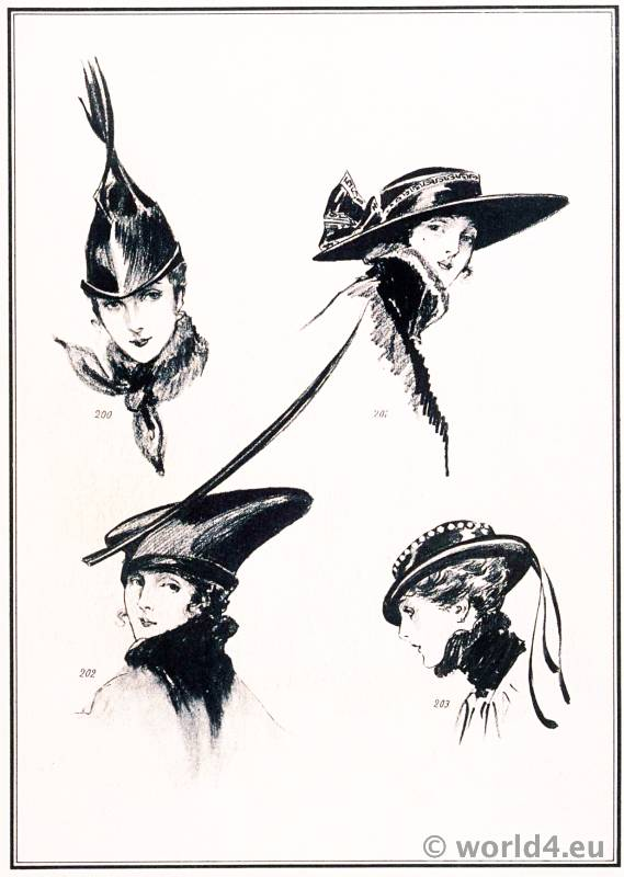 Hat fashion by Suzanne Talbot. Le style parisien. Art deco fashion magazine. French parisiennes collection haute couture
