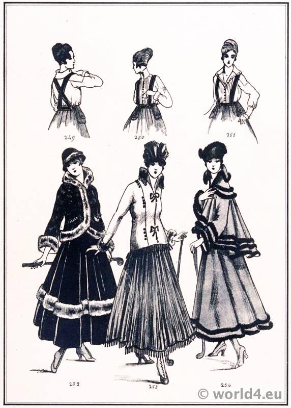 Golf dresses. Le style parisien. Art deco fashion magazine. French parisiennes collection haute couture