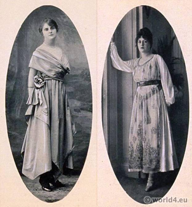 Haute couture dresses Redfern, Jenny. Le style parisien. Art deco fashion magazine. French parisiennes Gatsby collection