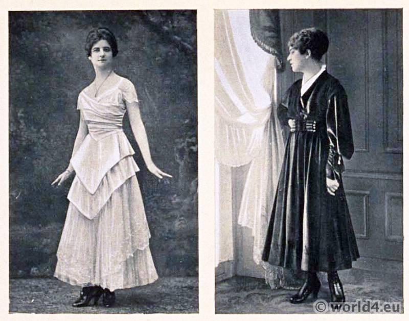 Haute couture dress Martial & Armand, Beer. Le style parisien. Art deco fashion magazine. French parisiennes collection.