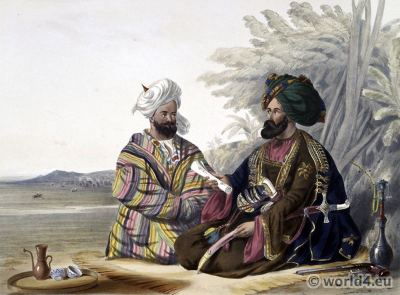 Ambassador Khan Muhammad Turkistan, Hindustani, Laghmani. James Rattray. Traditional Afghanistan National Costumes.