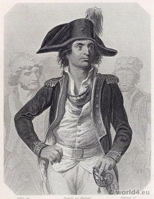 Portrait Antoine Joseph Santerre. French Revolution History. 18th military century costume