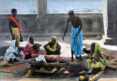 Corpse incineration, cremation Traditional Sri Lanka, costumes,Ceylon hindu, dresses,national