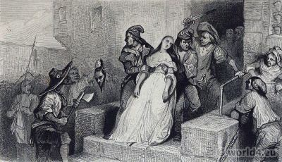 Death of Princess Lamballe. French Revolution History. 18th century costumes. Richard Bentley