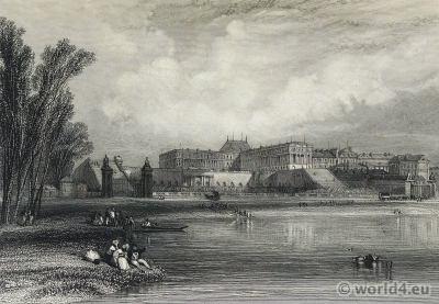 Versailles. Royal château. Louis XIV palace. France.