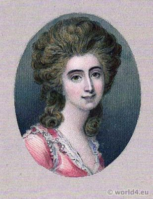 Portrait Grace Dalrymple Elliott. French Revolution History. Directoire costume. Mistress.
