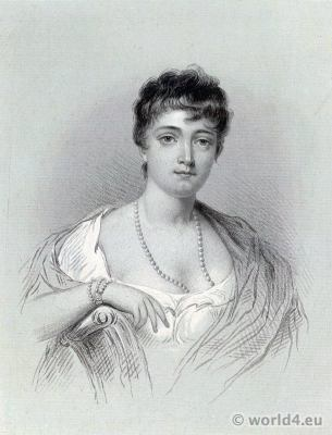 Thérésa Cabarrus, Madame Tallien, Notre-Dame de Thermidor. Fashion neo Greek style. French revolution history.