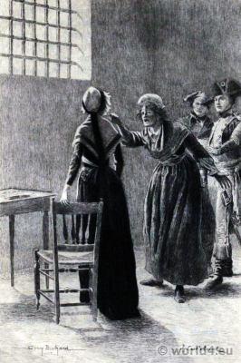 Marie Antoinette. Prison Conciergerie. French Revolution history. Directoire costumes