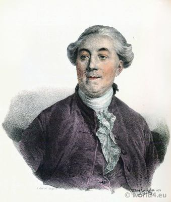 Jacques Necker 1732-1804. French statesman. Finance minister Louis XVI. Portrait French Revolution History