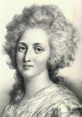 Princess Élisabeth. Madame Élisabeth Portrait. French Revolution History. 18th century costumes