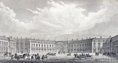 Grande Écurie du Roi, Versailles. Place d'Armes. Jules Harduin-Mansart. Ancien Régime architecture