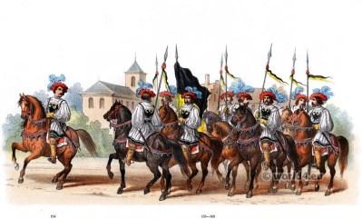 Captain of the emperor's guard. Emperor Charles V. Renaissance fashion period. 16th century military uniforms. Dutch War.