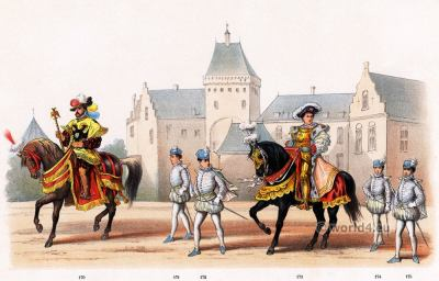 Emperor Charles V ruler of the Holy Roman Empire. Renaissance fashion period. Dutch Guelderian Wars.