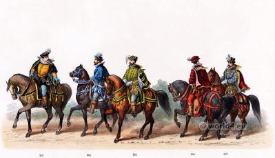 Joan de Figureoa, Governor-General. Emperor Charles V. Renaissance fashion period. 16th century military uniforms. Dutch War.