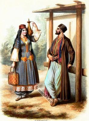 Costumes Tartares de Crimée. Alexandre Lacauchie. Les nations. Album des Costumes De Tous les Pays.