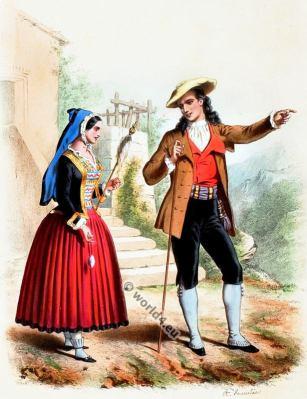 Costumes Basques. Alexandre Lacauchie. Les nations. Album des Costumes De Tous les Pays.