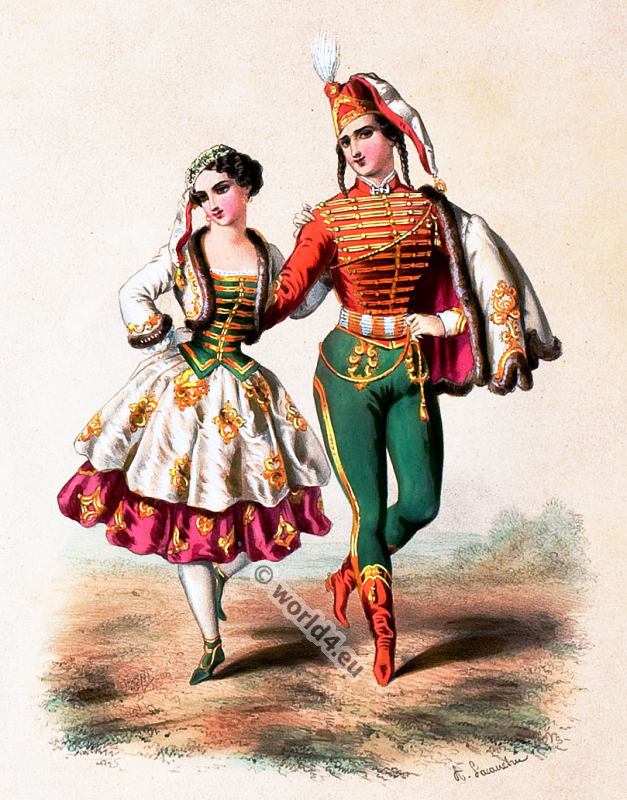 Costumes of all countries by Alexandre Lacauchie 1850s ...