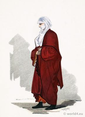 Traditional Armenian national costume. Ottoman Empire clothing. Franz Lipperheide.
