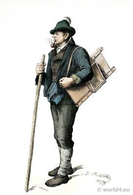 Montafun Vorarlberg Austria costume. Franz Lipperheide