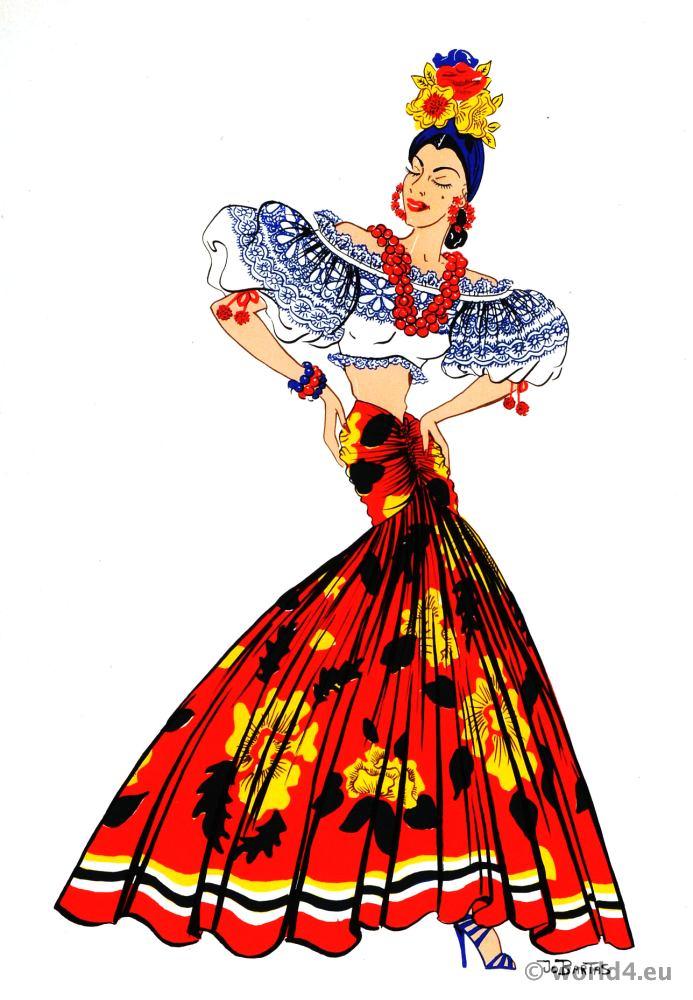 latin american folk dress archive