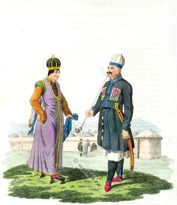 Circassian folk dress. Traditional Russian Caucasus national costume