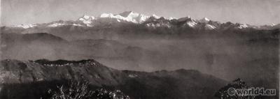 Snowy range from Tiger Hill. Darjeeling India. View on Himalaya. J. Burlington Smith.