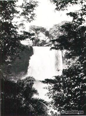 African landscape. Falls of the Tana River near Fort Hall, Kenya.