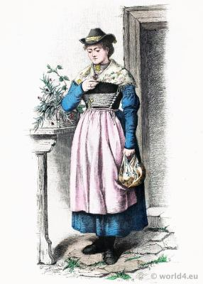 Traditional Bavarian folk costume from Lake Tegernsee