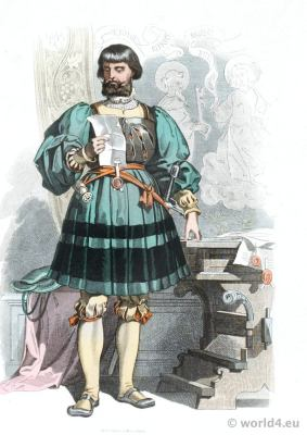 German Renaissance aristocracy costume. Franz Lipperheide. 16th century nobleman clothing