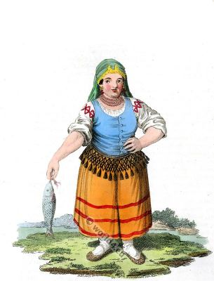 Kabardian in traditional folk dress. Kabardin, Circassian, Cherkessia costume