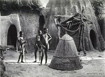 African tribe Musgu shepherds