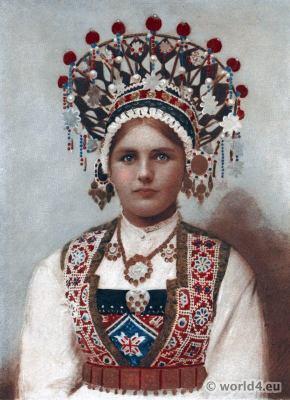 scandinavian folk dresses. Norway bridal costume