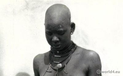 African tribe Nuer Woman South Sudan.