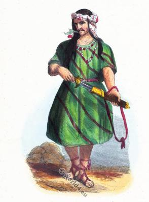 Traditional Carian Anatolia costume. Traditional Persia warrior clothing. Asian dress