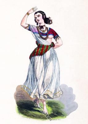 India Devadasi dress. Hindustan Jogini costume. Asia dance dress