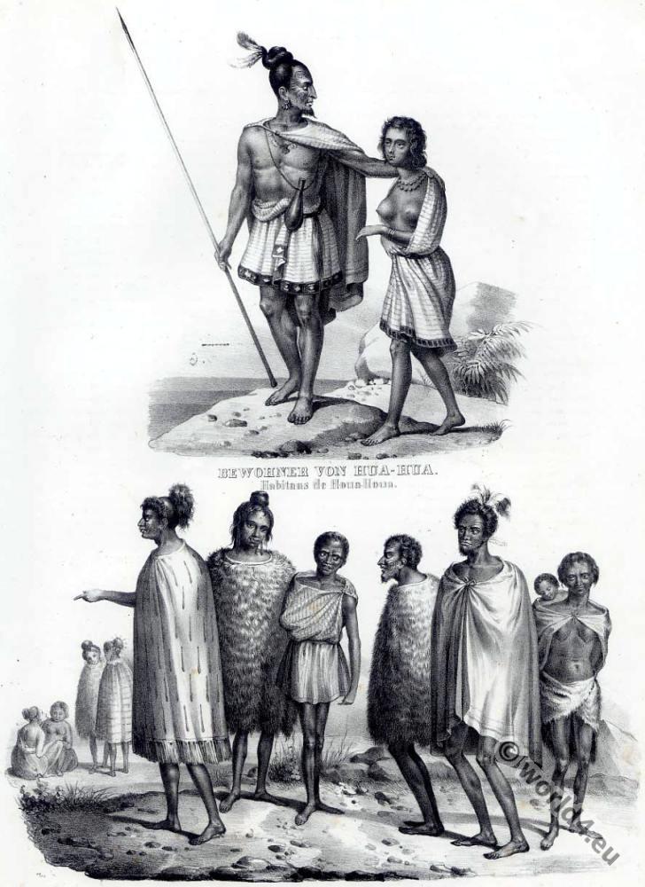 Maori Origins: Maori People Of New Zealand In 1840.