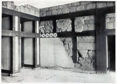 Hall of Double Axes. Palace of Knossos. Minoan culture. Ancient greek architecture