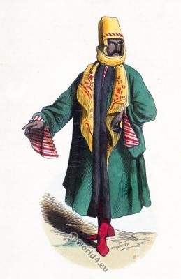 Ottoman Empire clothing. Turkish Mardin costume. Ancient Asian dresses