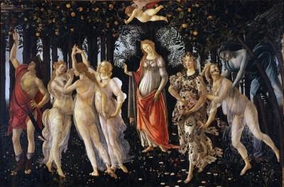 Italian Renaissance painting. Primavera. Sandro Botticelli