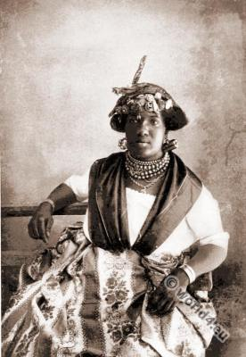 Traditional Caribbean costumes. Charles Augustus Stoddard. West Indian  woman dress