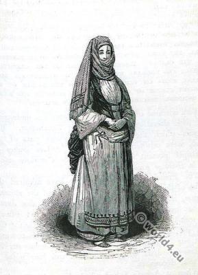 Crete, female, peasant, mountaineer,costume, fashion, history, historical, dress, costumes, RobertPashley